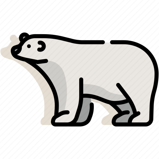 animal, antarctica, arctic, bear, mammal, polar, wildlife icon
