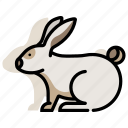 animal, bunny, domestic, mammal, pet, rabbit, zoo icon