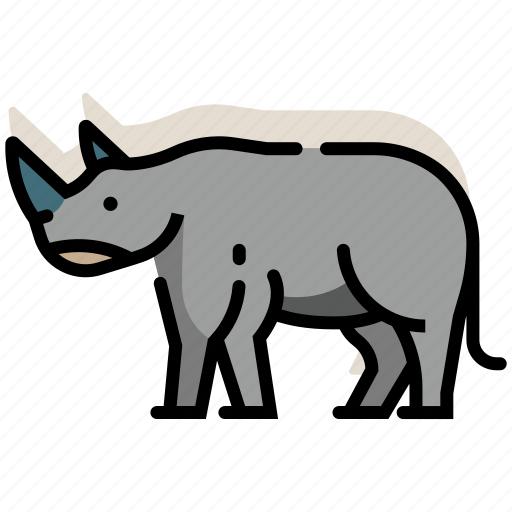 africa, animal, mammal, rhino, rhinoceros, wildlife, zoo icon