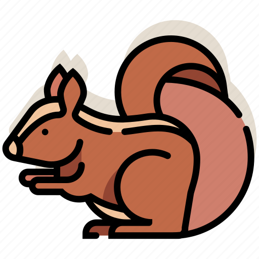 animal, furry, squirrel, tail, wildlife, zoo icon
