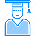 college, education, graduate, proffesor, student, study, user icon