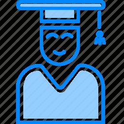 college, education, graduate, proffesor, student, study, user icon
