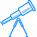 communication, radio, scope, space, telescope, view, zoom icon