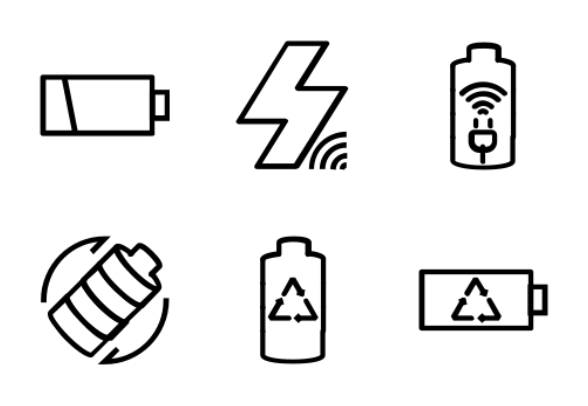 battery indicator icons by roundicons com