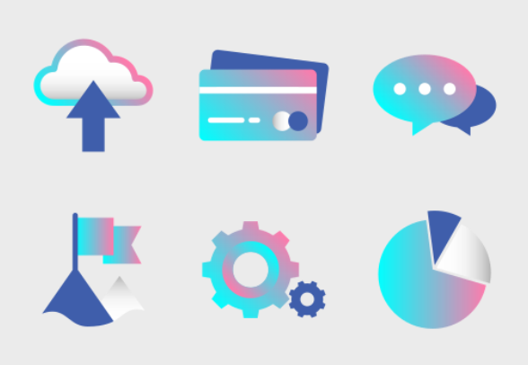 Digital Marketing Gradient - Rave and Glow icons by Chanut
