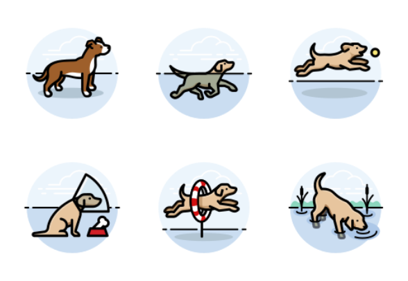 Dog Activities - Round preview image