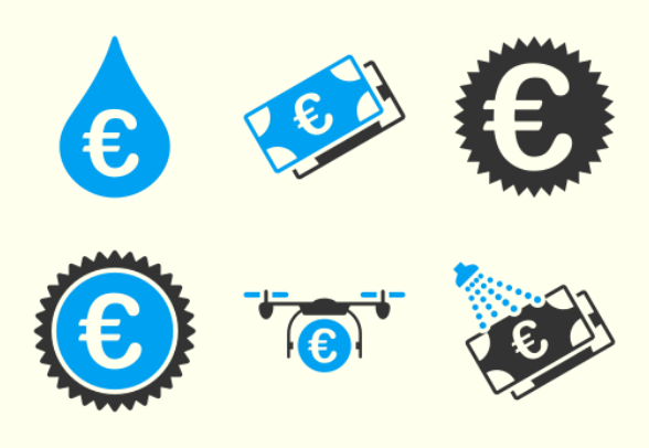 euro shopping icons by aha soft