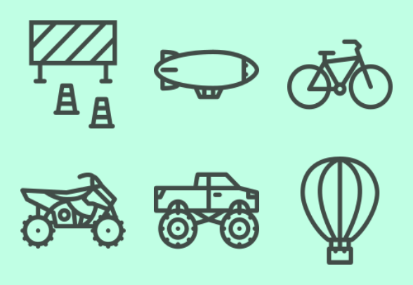 Transport Outline Icons By Last Spark
