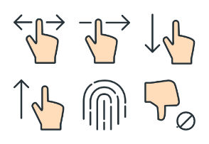 Gestures - Color Icons