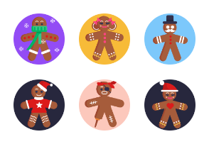 50 Gingerbread Characters