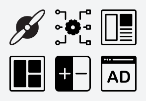 Ad Network Icon (Line with Fill) Set 1