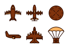 air force (Filled line)