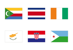 All national flags of the world - very high quality