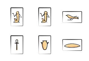 Ancient Egyptian Hieroglyphs Icons