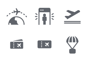 Aviation Fill icon set