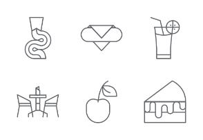 Bakery line icons set 4
