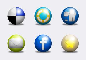 Social Ball icons