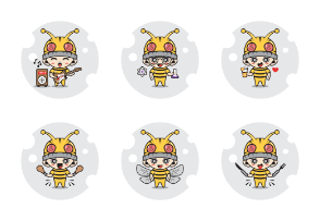 Bee characters activity