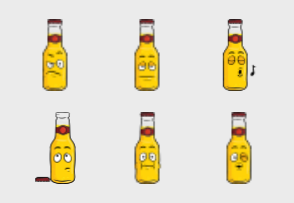 Beer Bottle Emoji Cartoons