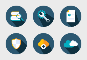 Blue Business icons 1