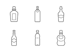 bottle and beverage outline stroke icon