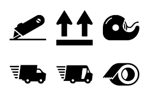 Box and Shipping Supplies Icons