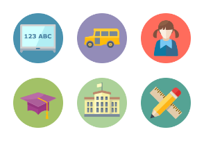 Bubble Education Icons 1