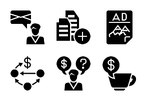 Business and Finance Glyph 20