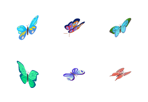 Butterfly - isometric