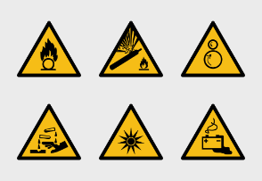 ISO 7010 Caution Warning Yellow Signs