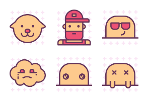 Characters 1/2 Pattern