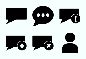 Chat glyph round and square