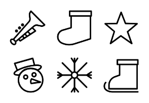 Christmas outline style