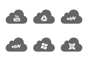 Cloud Web Icons version 05 - free