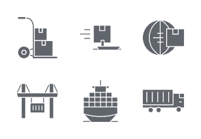 Commerce and Shipping - Glyph