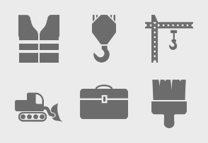 Construction Tools Glyph
