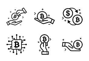 Bitcoin glyph Cryptocurrency icon