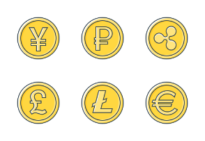 Currency and Cryptocurrency signs (Free)
