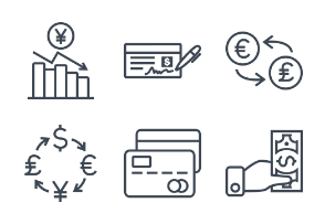 Currency & Credit - Thick outline