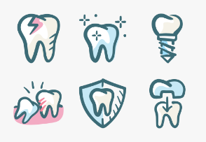 Dental Colors Doodle