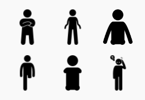 Different type of handicapped and disabilities classes categories