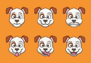 Dog Cartoon Emojis