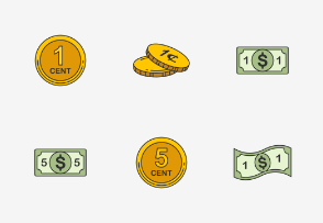 Dollars & Cents - Colored