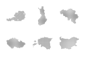 Dotted countries maps