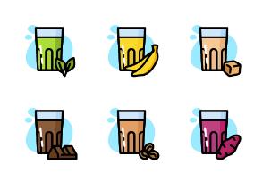 Drink Milk Glass - Color