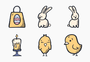 Easter Hand Drawn Color