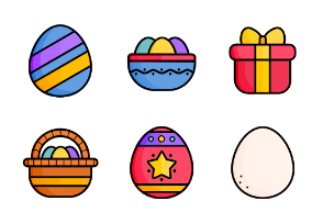 Easter Icons-Lineal Color1