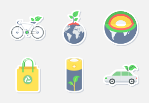 Ecology & Environment sticker icons