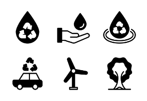 Ecology & Recycling Glyph