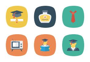 Education Flat Square Icons Vol 2